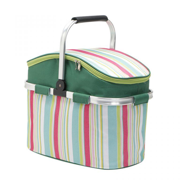 26L Oxford Shopping Basket Cooler Bags-6