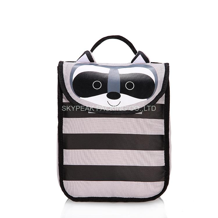 Insulated thermal waterproof carrying lunch tote bag for kids