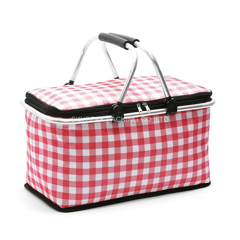 Portable Folding Insulated Picnic Basket